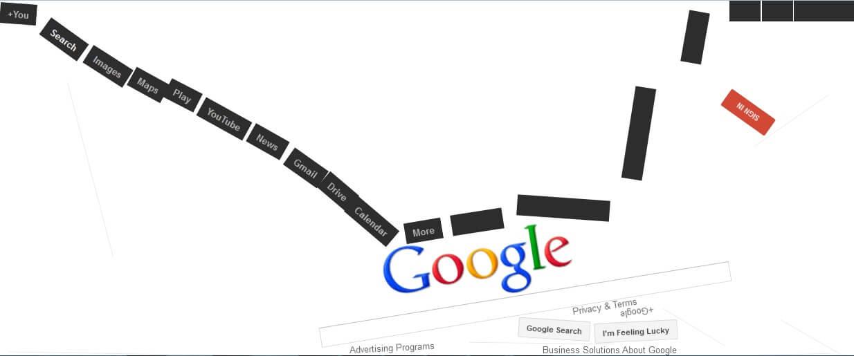 Google Anti-Gravity Trick