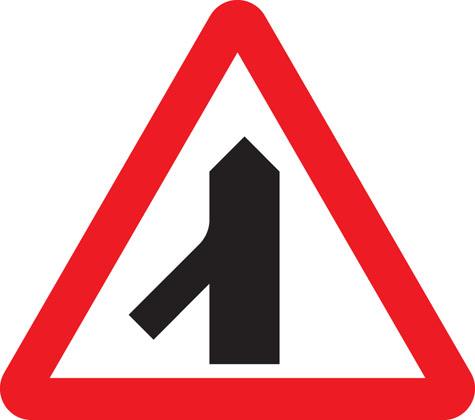 Traffic merging on the left