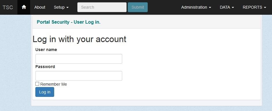 tpad tsc account login
