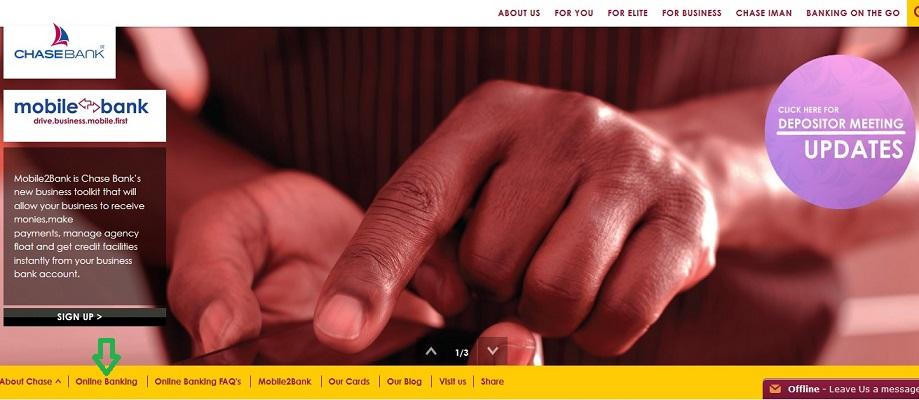 Chase Bank Kenya Online Banking Login