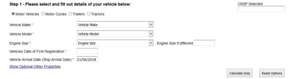 Kenya Car Import Duty Calculator