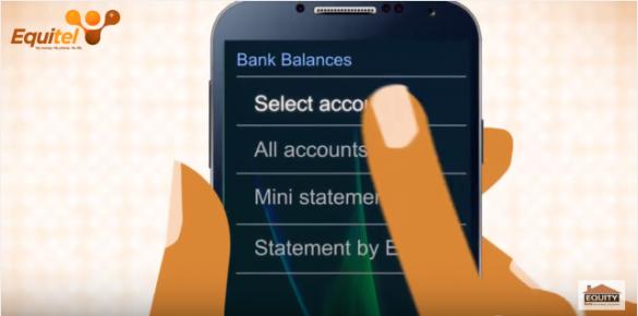 Equity Bank Account Balance - Select Account